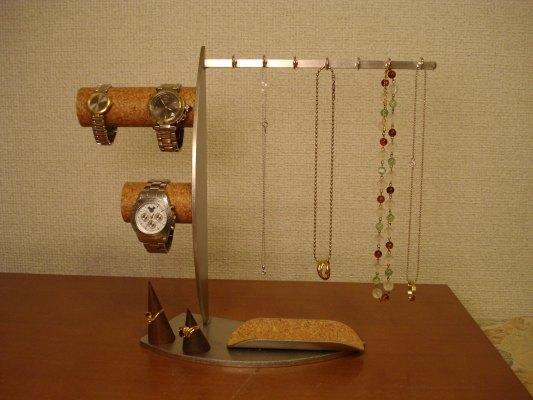 アクセサリースタンド アクセサリー 収納!腕時計、ネックレス、指輪コレクションタワー , AKデザイン